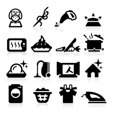 Housekeeping Icons set elegant series