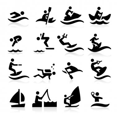 Water Sport Icons stock vector