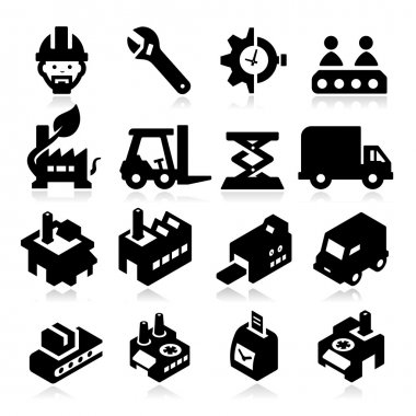 Factory Icons stock vector