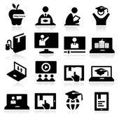 Online oktatás ikonok