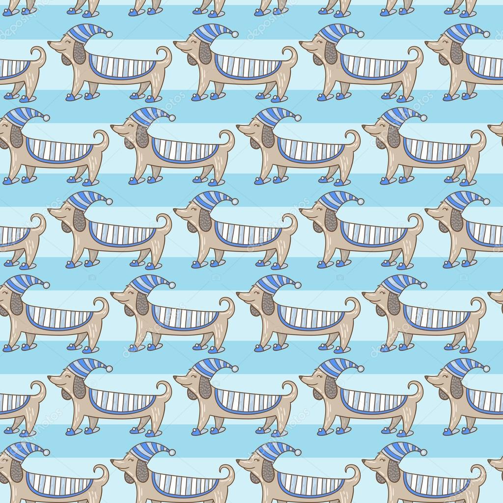 Dachshund cute dog stripe pattern