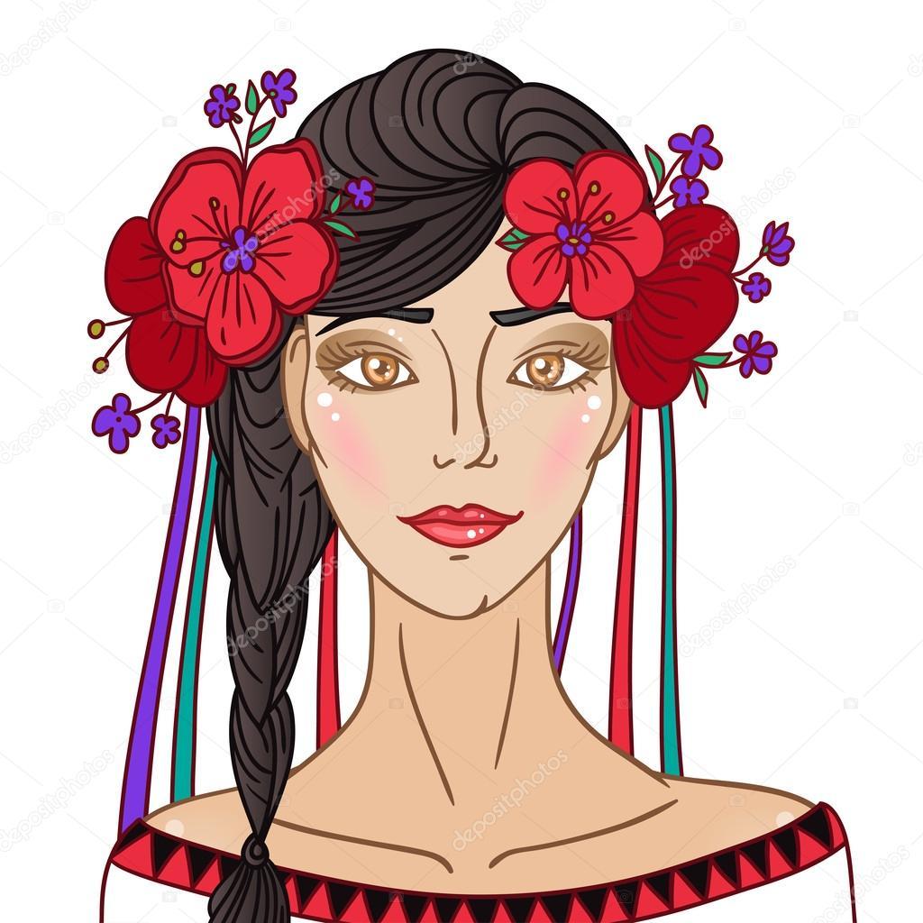 Ethno ukrainian girl