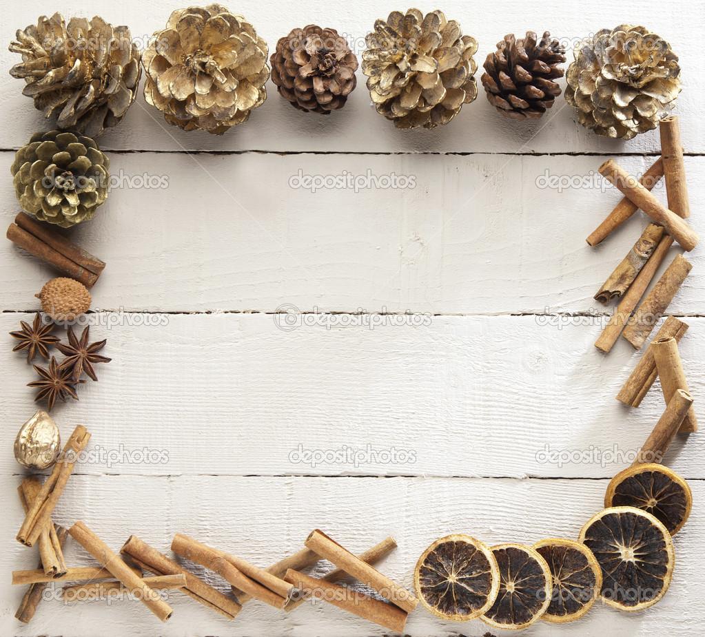 marco de madera para Navidad — Fotos de Stock © amastoris #38632163