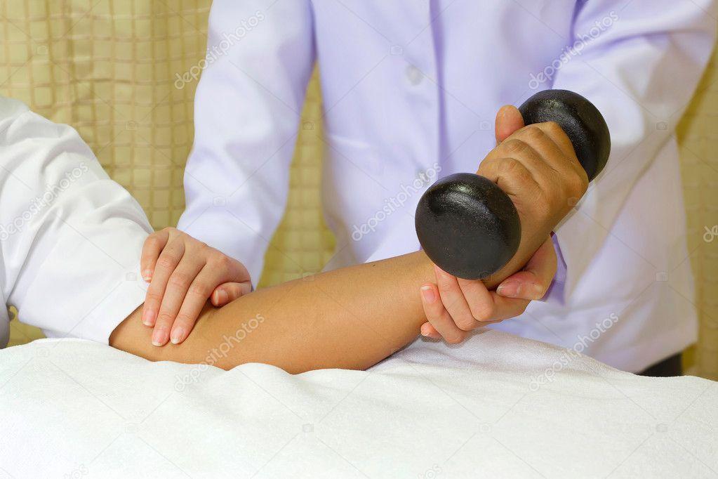 entrenamiento de rehabilitación muscular para la articulación del ...