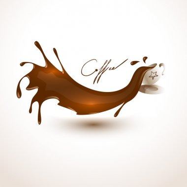 Vector coffee blob