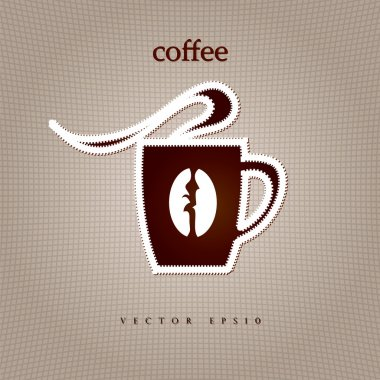 Coffee shop menu. Coffee cup shape. Vector
