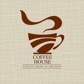 Fotografie Coffee shop menu. Coffee cup shape. Vector