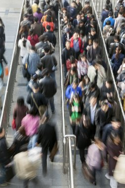 People at Rush Hour - Motion Blur