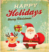 Photo Illustration of Santa Claus and Christmas reindeer in Christmas background