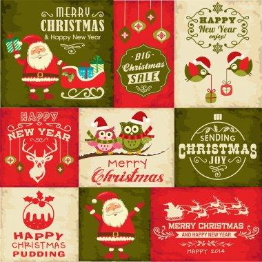 Vector set of Christmas symbols