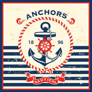 Vintage nautical template design