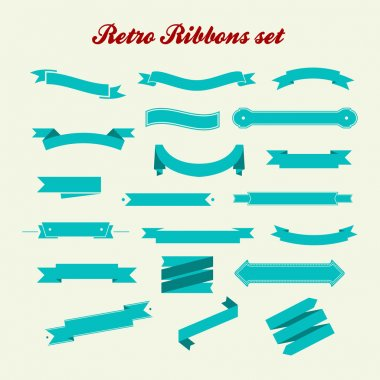 Retro styled ribbons collection