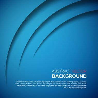 Abstract 3D background blue colour clip art vector