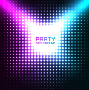 Shiny Disco Party Background Vector Design