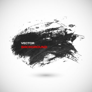 Black brush vector stroke