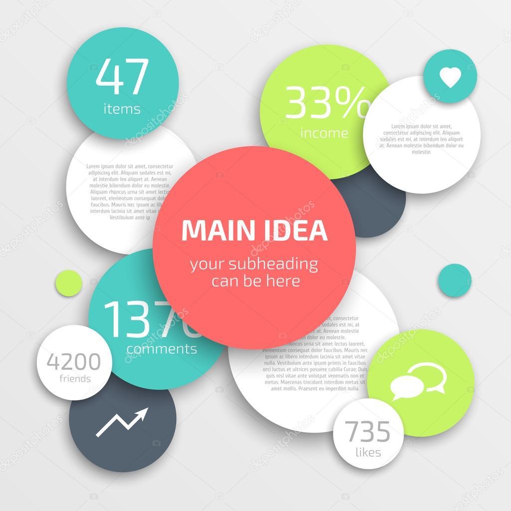 círculo empresarial infografía diseño plantilla — Vector de stock ...