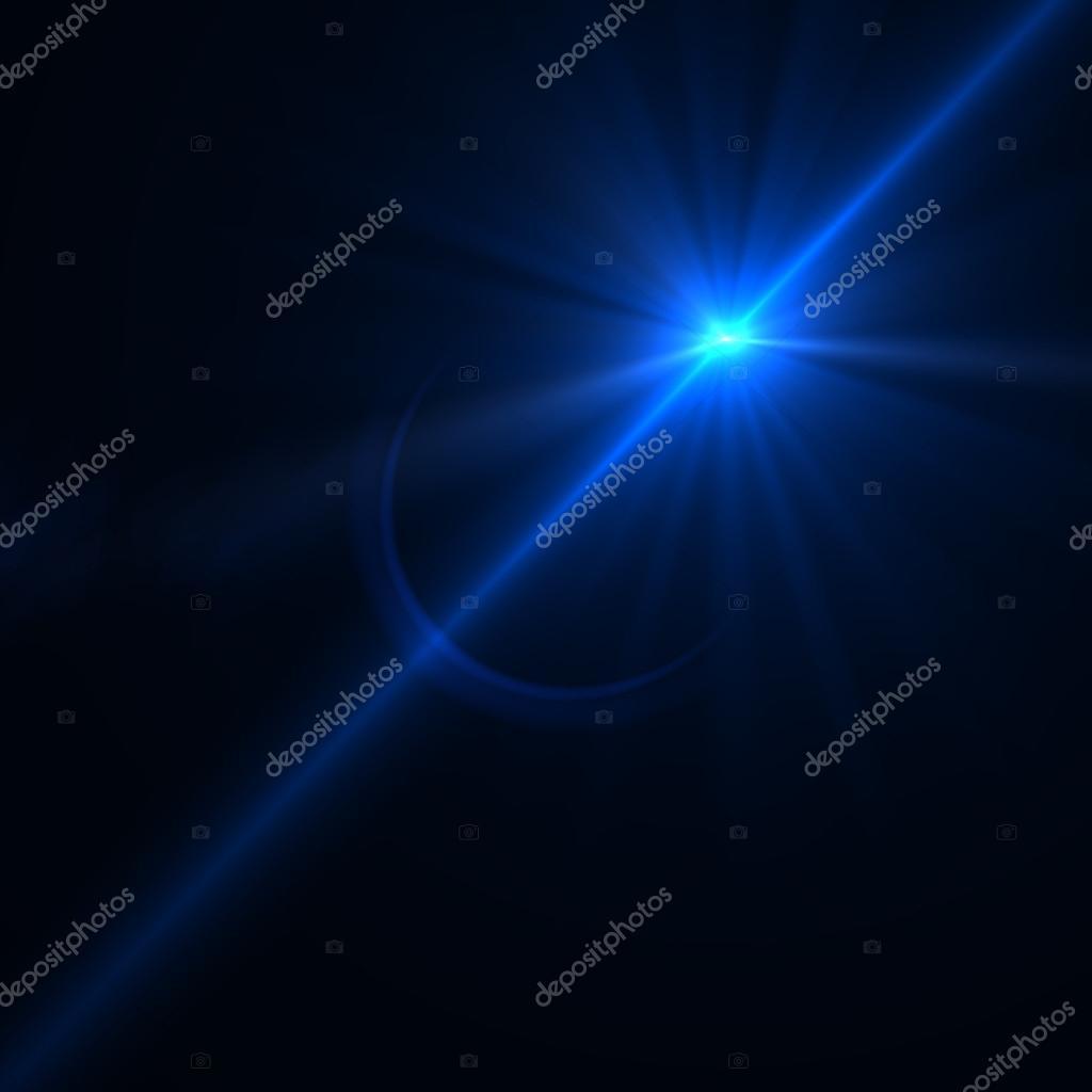 Lens flare effect over black background