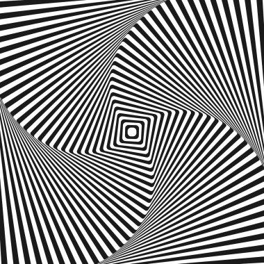 Optical art illusion