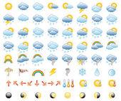 Sada ikon počasí