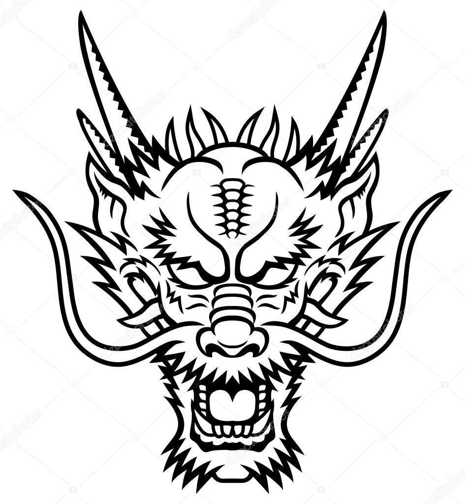 dragon head stock vectors royalty free dragon head illustrations