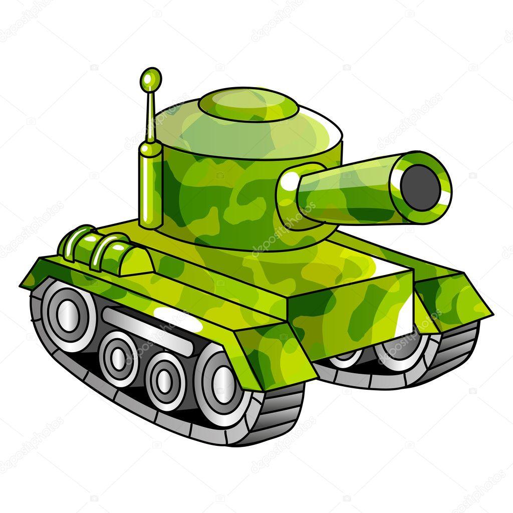 tanque del ejército de la historieta — Vector de stock © komissar008 ...