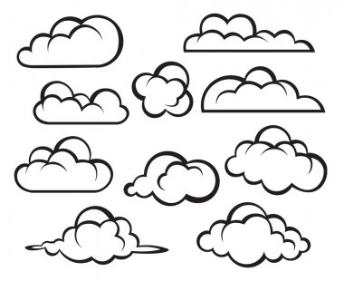 Set of clouds