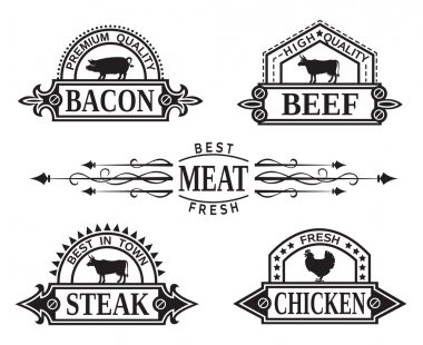 Collection of grill labels