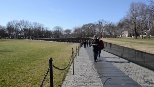 People at Vietnam War Memorial