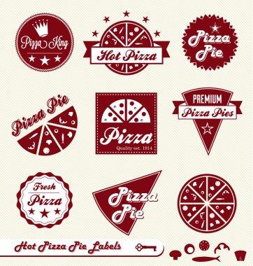 Vector Set: Pizza Shop Labels and Badges