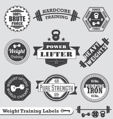 Vector Set: Weight Training Labels and Icons