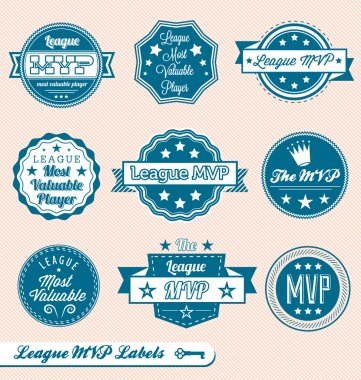 Vector Set: Retro Style League MVP Labels and Icons