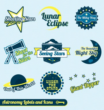 Vector Set: Astronomy and Stars Labels and Icons