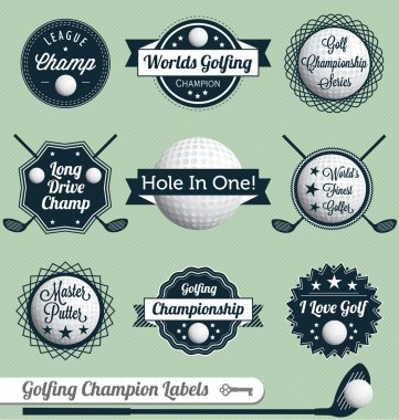 Vector Set: Golfing Labels and Icons