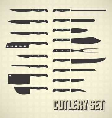 Vector Set: Kitchen Knives and Cutlery