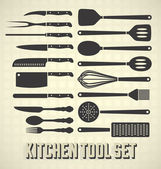 Fotografie Vector Set: Kitchen Utensils Set