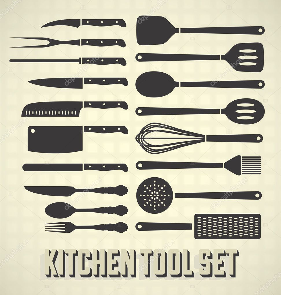 Vector Set: Kitchen Utensils Set
