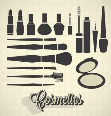 Vector Set: Vintage Cosmetics Silhouettes