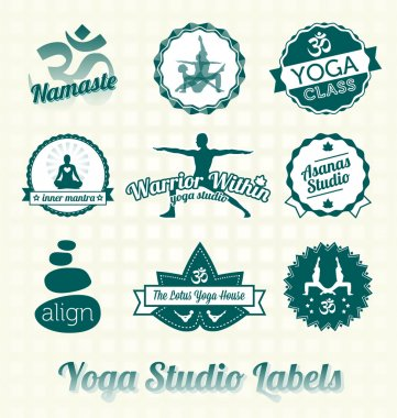 Vector Set: Yoga Studio Labels and Icons