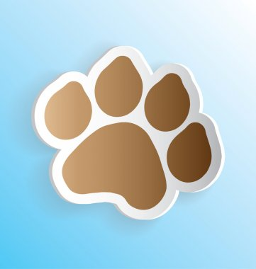 Pet Dog Paw Print Sticker Peeling