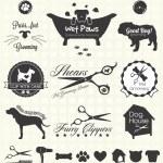 Векторный набор: Pet ухаживание этикетки — стоковый &