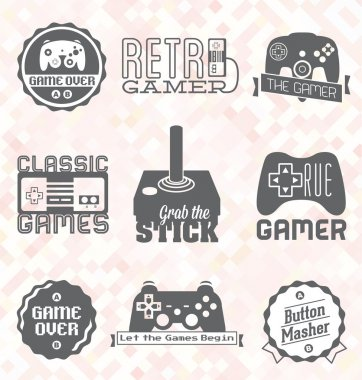 Vector Se: Retro Video Game Labels