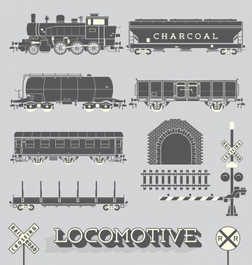 Vector Set: Model Train Collection