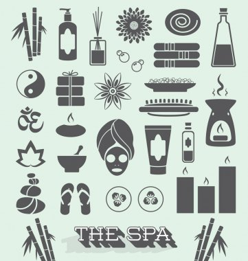 Vector Set: Day at The Spa Icons and Symbols