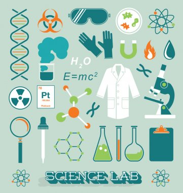 Vector Set: Science Lab Objects and Icons