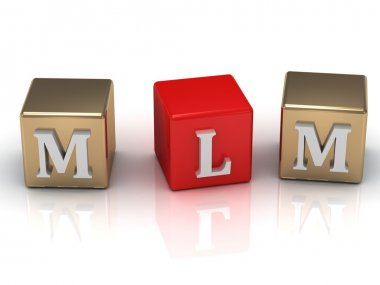 MLM inscription white letters