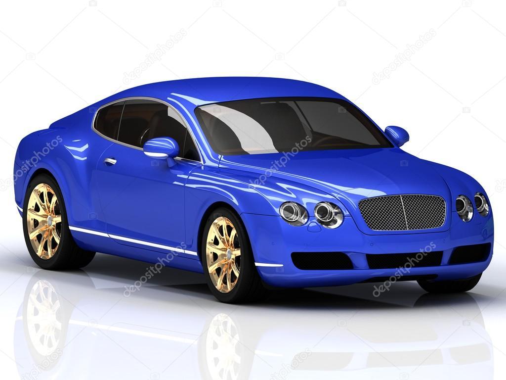 voiture de luxe bleu avec jantes dor es photo ditoriale naraytrace 26496375. Black Bedroom Furniture Sets. Home Design Ideas