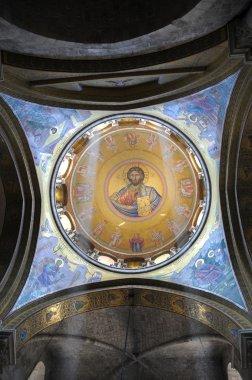 """Картина, постер, плакат, фотообои """"картина иисуса христа на куполе церкви """", артикул 13333404"""