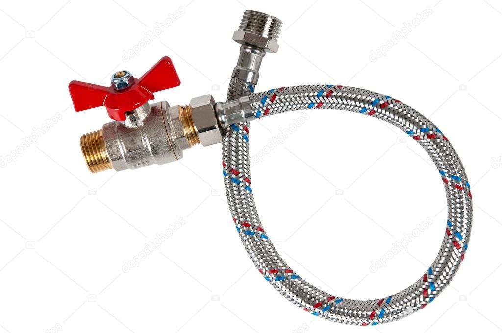 tuyau flexible tress et valve d 39 eau photographie andglb 15721923. Black Bedroom Furniture Sets. Home Design Ideas