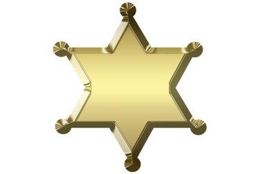 Blank golden sheriff star