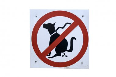 Not allowed to walk your dog here